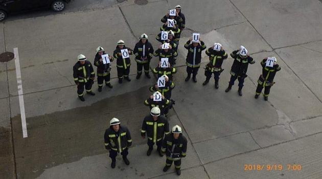 Így búcsúznak a soproni tűzoltók a volt szolgálat parancsnokuktól