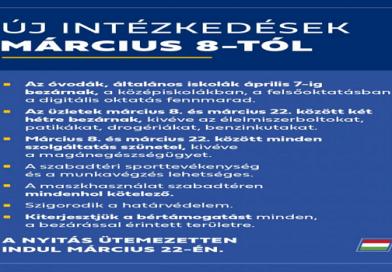 Koronavírus intézkedések március 8-tól
